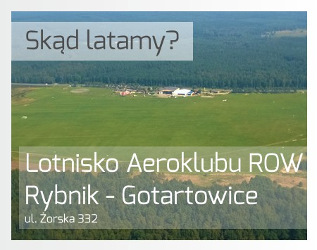 Loty widokowe - Aeroklub ROW